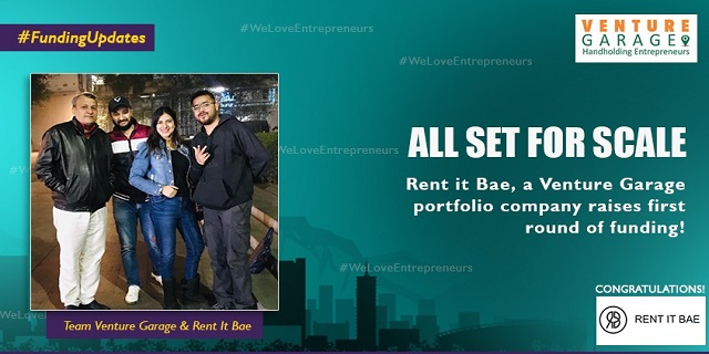 Banner For Fundraising Of Rent It Bae Showing Aanchal Saini , Vivek Kumar And Vineet Sagar